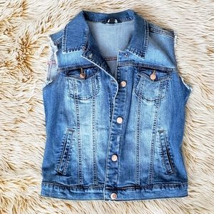 MANGO/Denim Vest Jacket